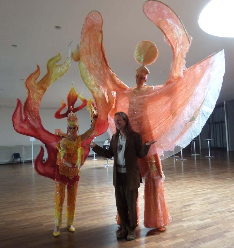 Morgenröte und tanzende Flamme Pantao, Karlsruhe
