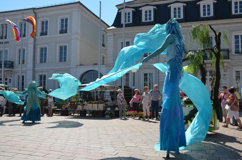 Straßentheaterfestival Zweibrücken, Wasser Show, Tanzchoreographie