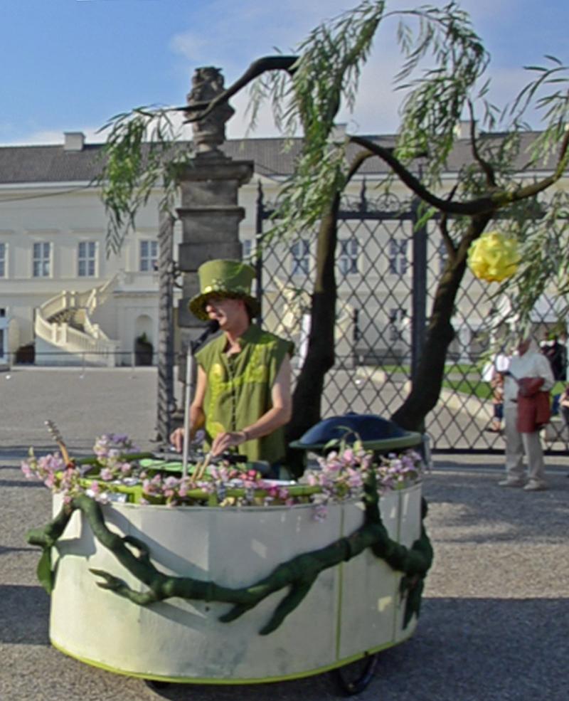 mobile Livemusik beimFeuerwerksfestival Hannover.