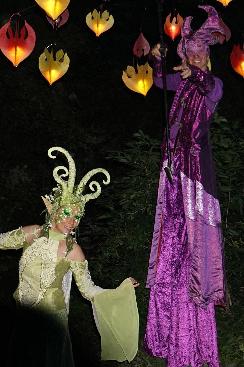 Waldelfe und Traumlichtträger Pantao, Sommernacht am Kaiserdom, Königslutter