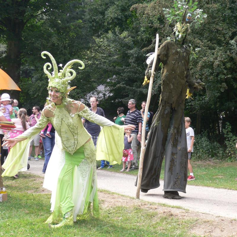 Waldelfe und Vogelbaum Pantao, Forstpark-Fest Düsseldorf