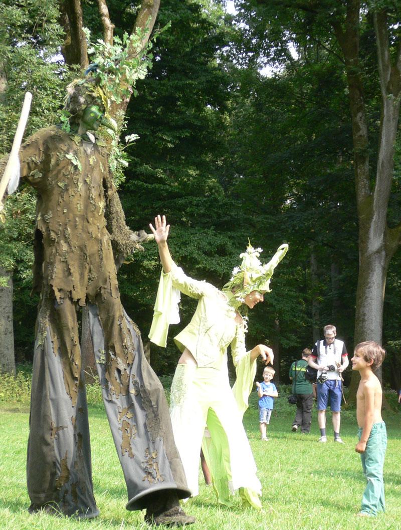 Waldelfe und Vogelbaum Pantao, Forstparkfest Düsseldorf