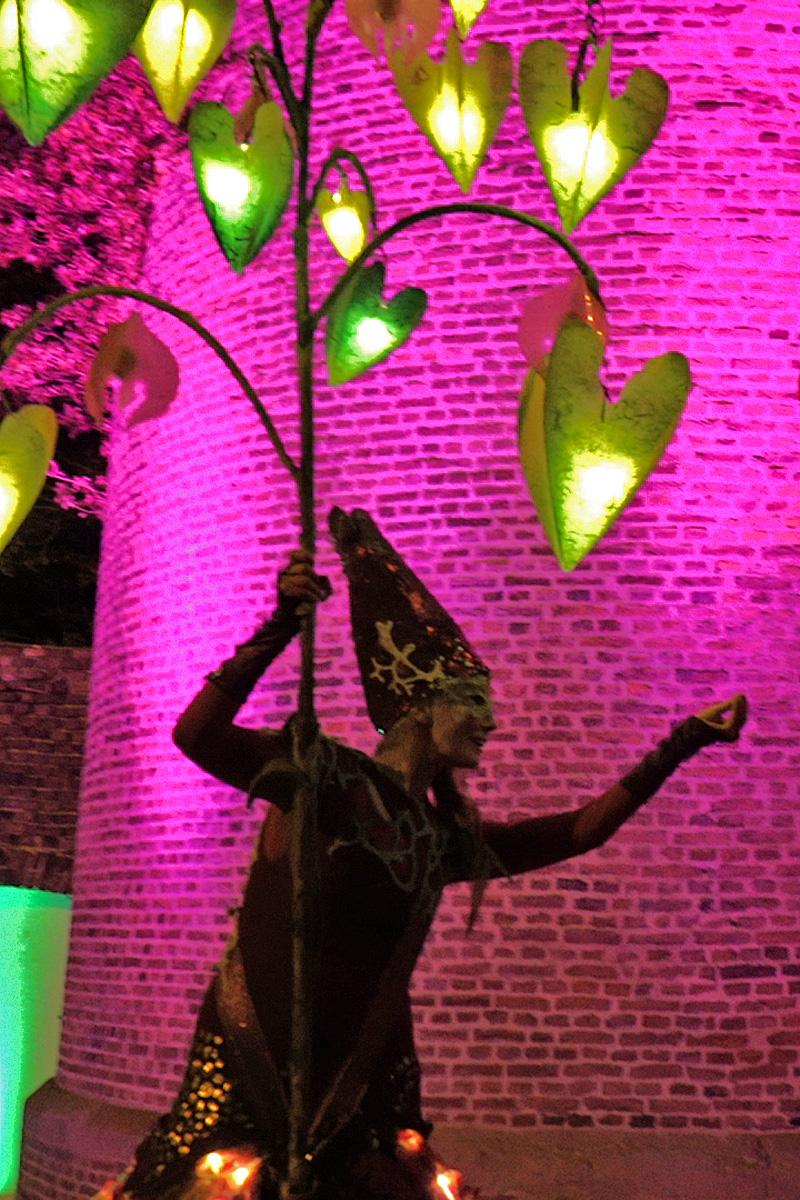 Stelzenläufer mit Licht , Leuchtende Gärten Zülpich,