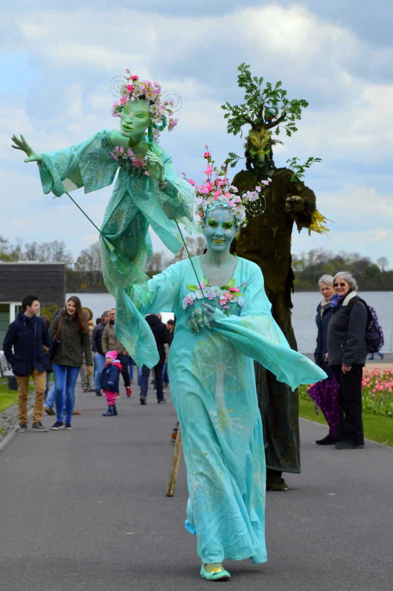 Blütenfee und Vogelbaum, Landesgartenschau-Park Zülpich.