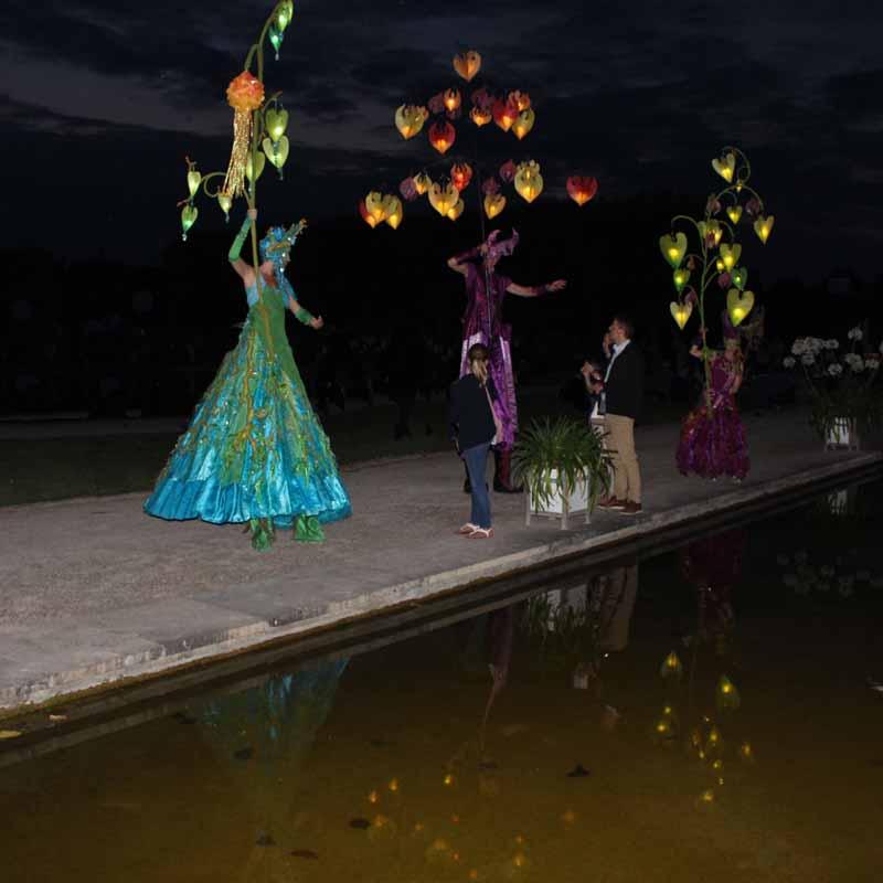 Wasserspiegelung, Lichterfest, Sommernacht-Event.