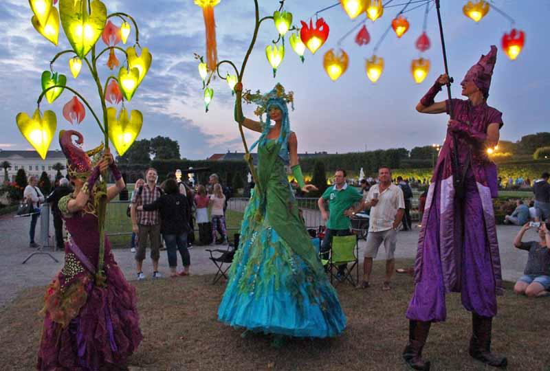 Lichterfest, Nacht der Lichter, Kleines Fest im großen Garten Hannover