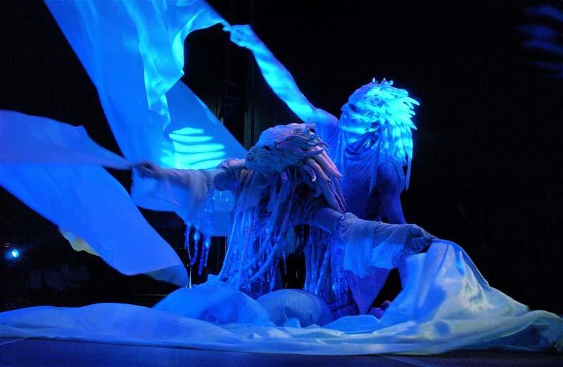 Wasserfrau und Wassermann,  Wasser Tanz Choreographie, Firmenevent