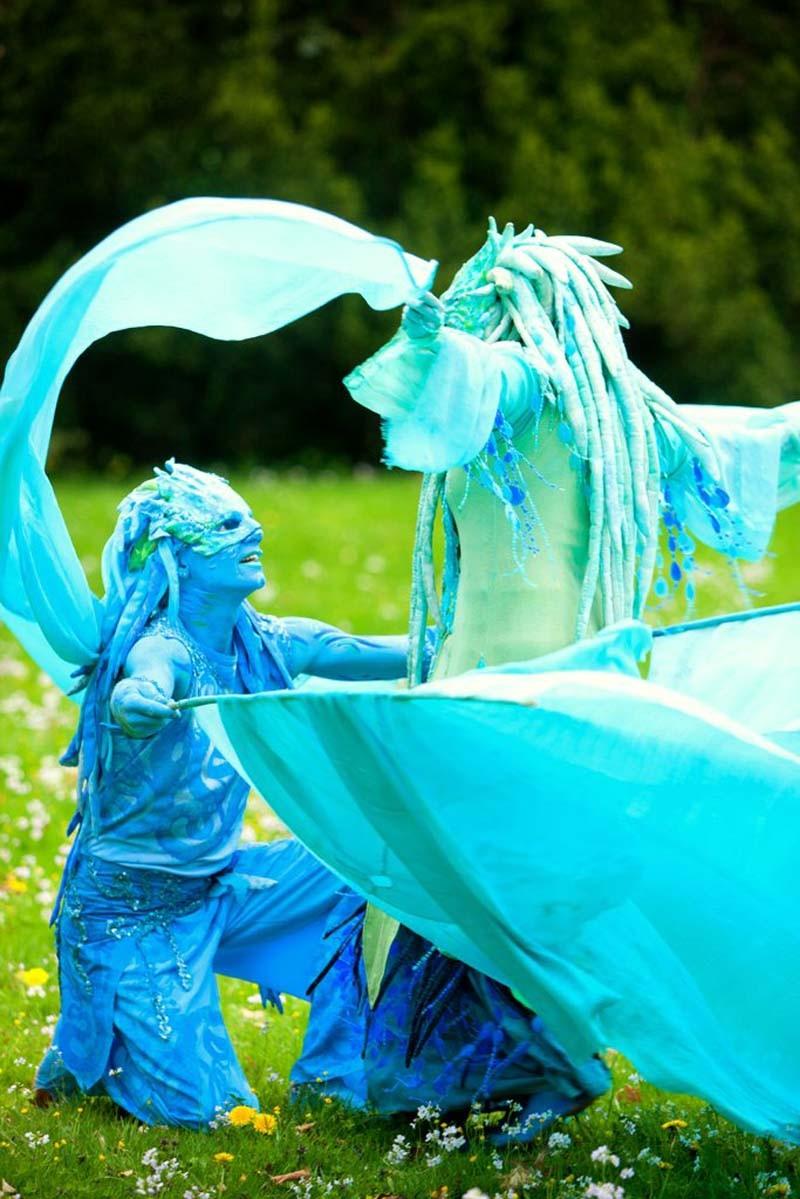 Wassermann und Wasserfrau Auftritt Hochzeit