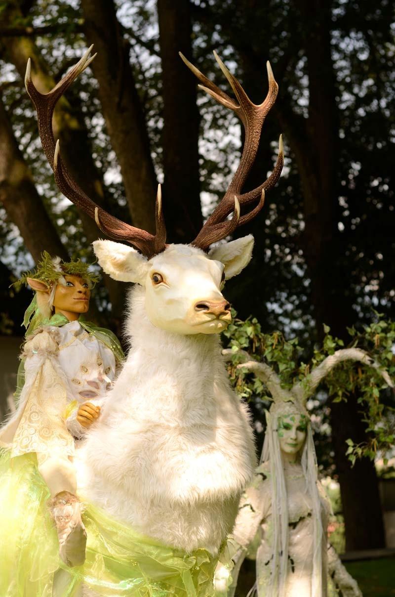 Weißer Hirsch und Birke, Schloss-Park-Fest Österreich, Pantao
